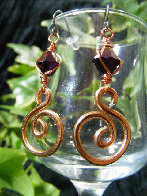 Aluminum Spiral Earrings