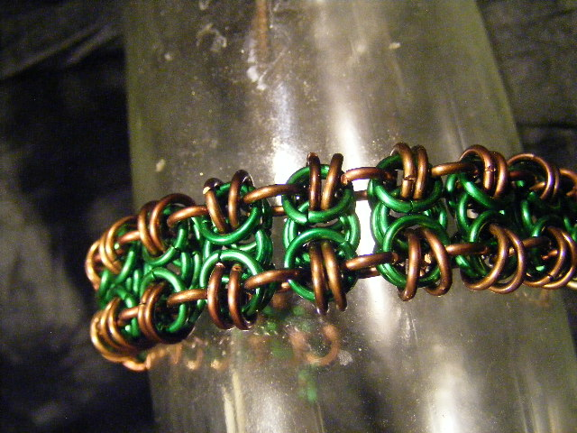 BTB green and brown braclet