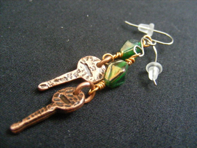 key earrings