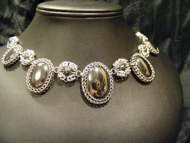 Persian byzantine necklace hematite