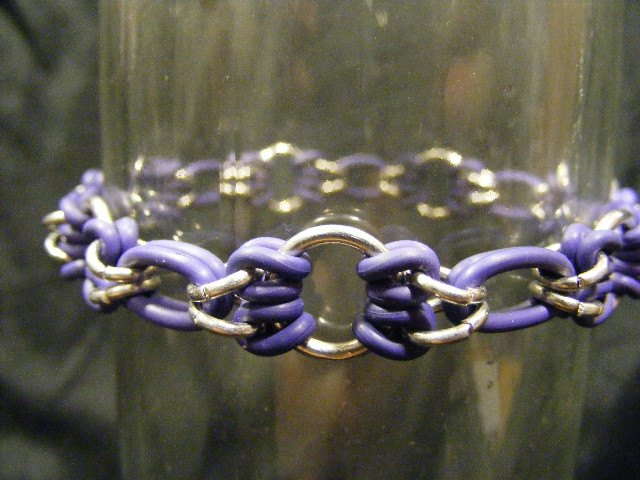 XOXO bracelet  purple and silver