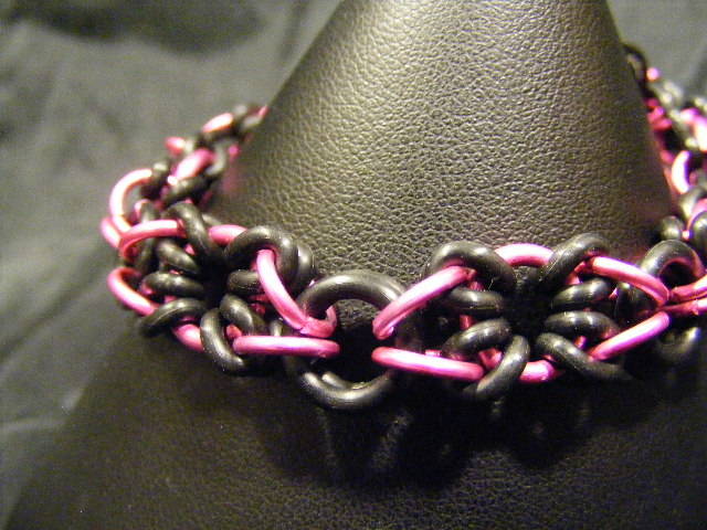 XOXO pink and black bracelet