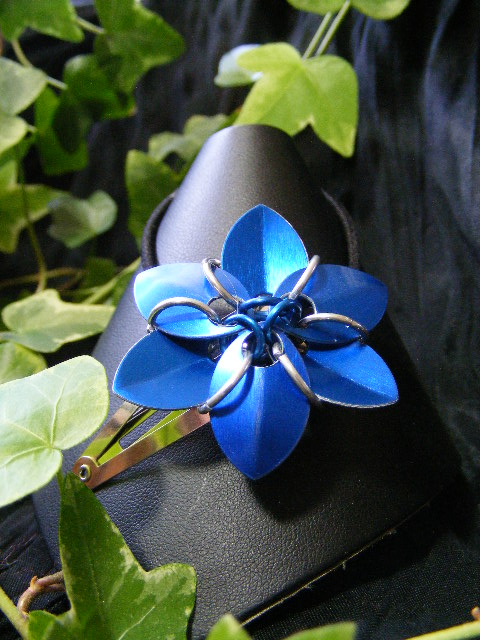blue hair flower
