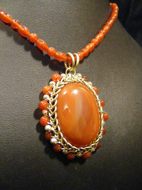carnelian orbit necklace