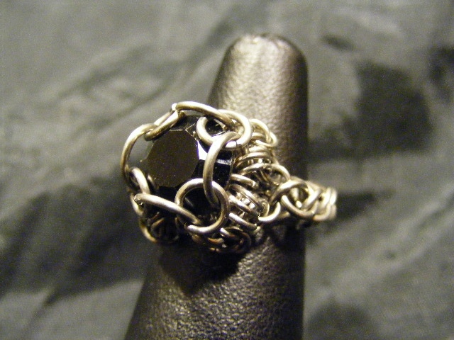 chainmail chaton black ring