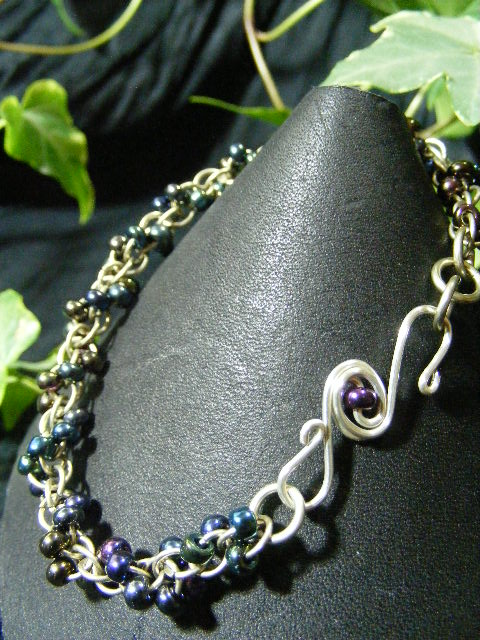 color shift purple shaggy loops with fancy clasp