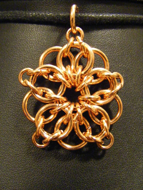 copper celtic star flower