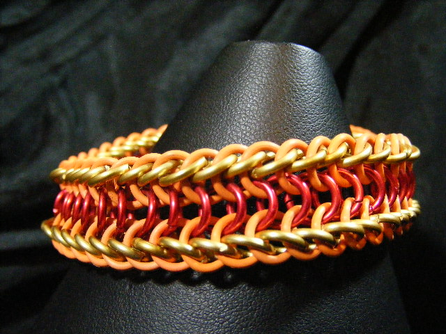 fire theme half dragon back bracelet