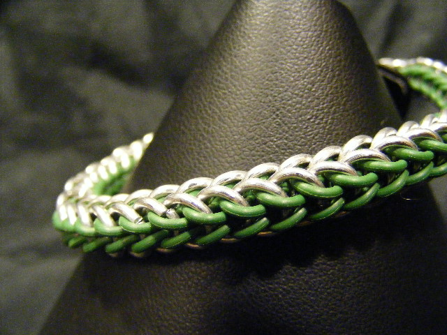 full persian green and aluminum stretch