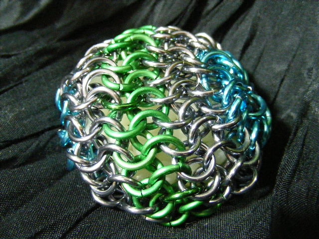 green blue and hematite hackey