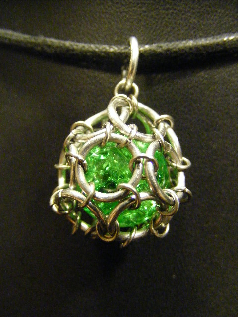 green fairy ball pendant