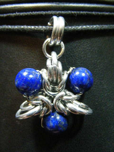 lapis elf star pendant