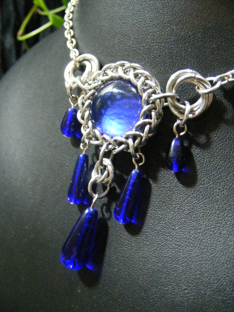persian bauble necklace in blue