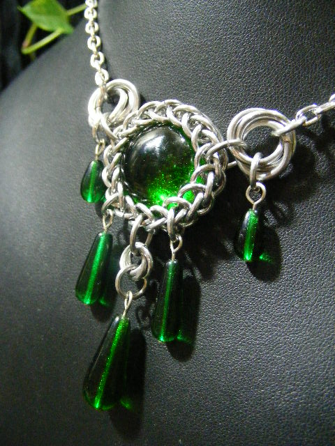 persian bauble necklace in green