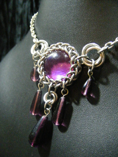 persian bauble necklace in purple