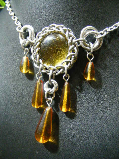 persian bauble necklace in yellow