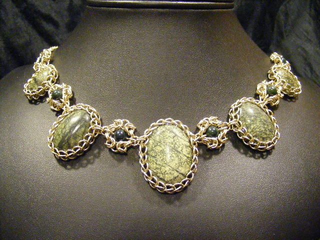 persian byzantine necklace serpentine