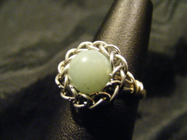 persian sphere amazonite ring