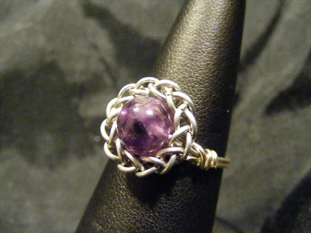 persian sphere amethyst ring