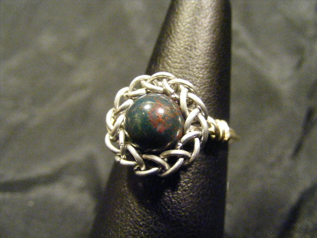 persian sphere bloodstone ring