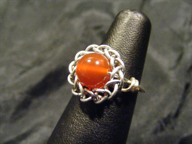 persian sphere carnelian ring 2
