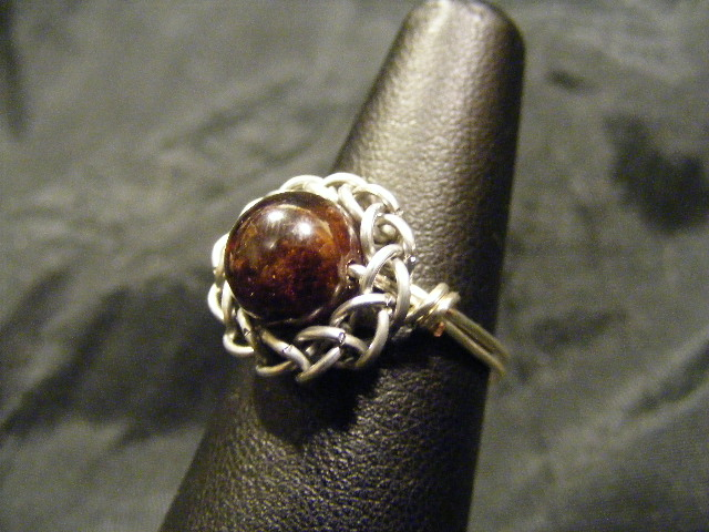 persian sphere garnet ring