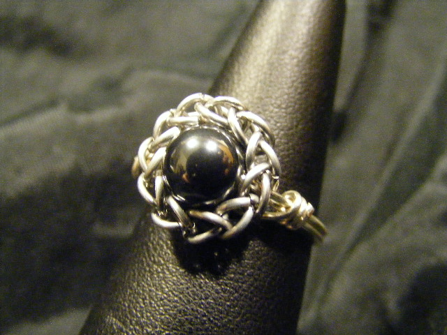 persian sphere hematite ring