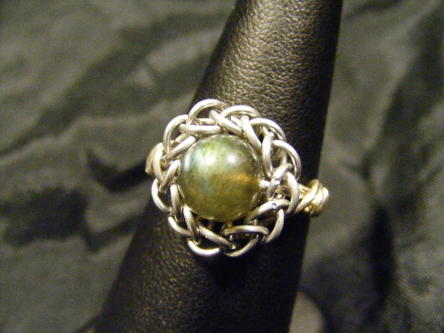 persian sphere labradorite ring