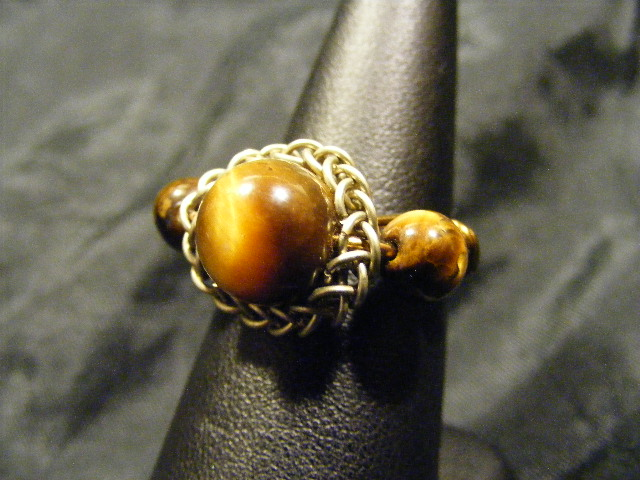 persian sphere tigers eye ring
