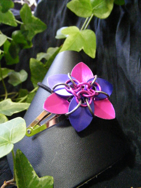 pink and purple hair flower 2