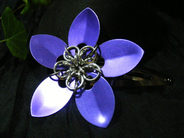 purple large scale hair flower