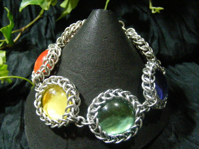 rainbow persian bauble bracelet
