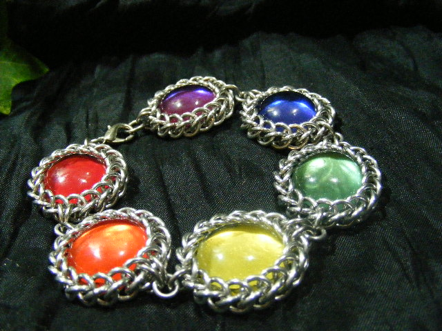 rainbow persian bauble bracelet alt view