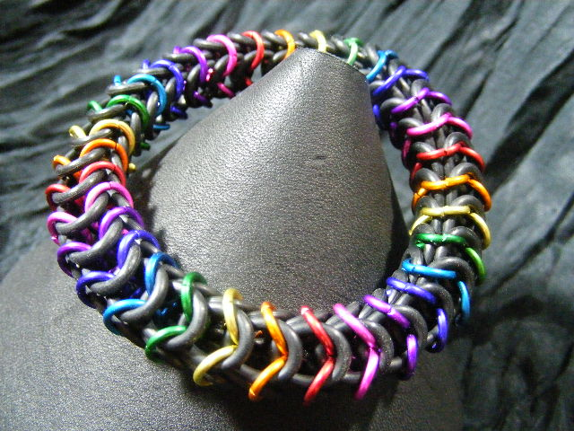 stretchy rainbow boxchain bracelet