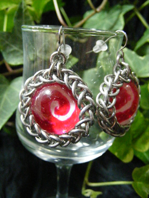 swirled candy earrings