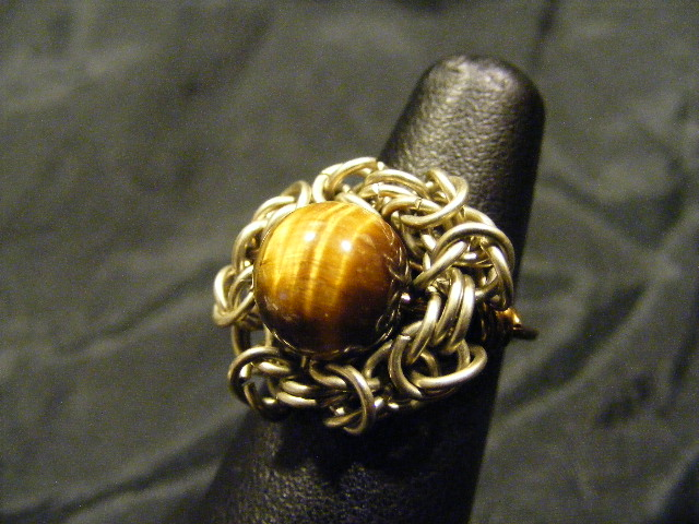tigers eye byz ring